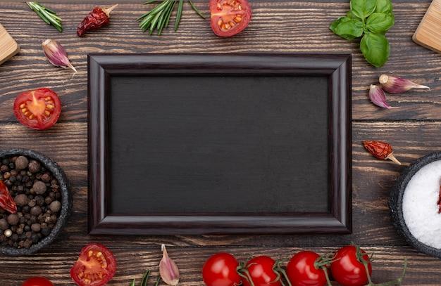 Quadro de ingredientes de cozinha