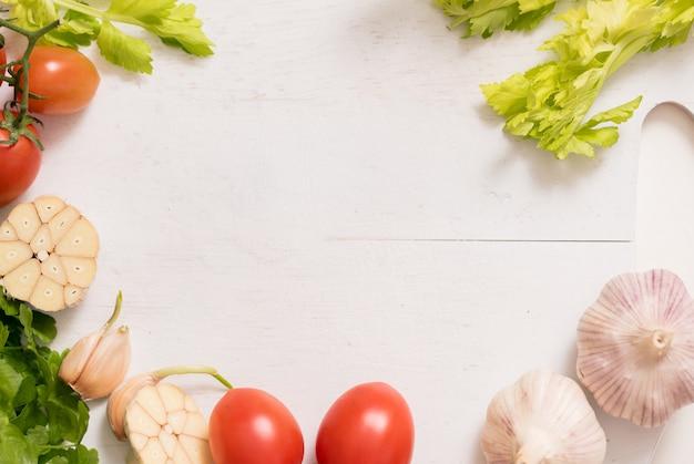 Quadro de ingredientes vegetais