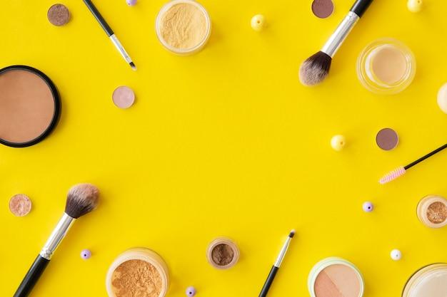 Quadro de maquiagem cosméticos