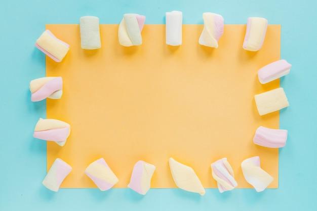 Quadro de marshmallows