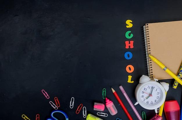 Quadro de material escolar e de escritório