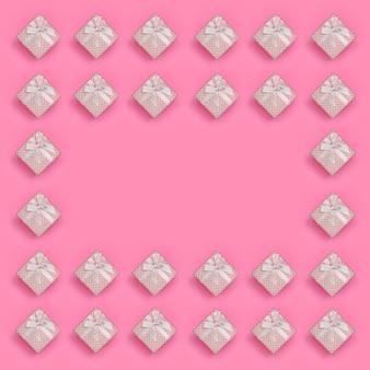 Quadro de mentiras de caixas de presente-de-rosa