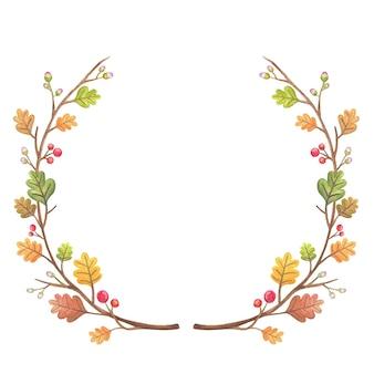 Quadro de outono de folhas de carvalho