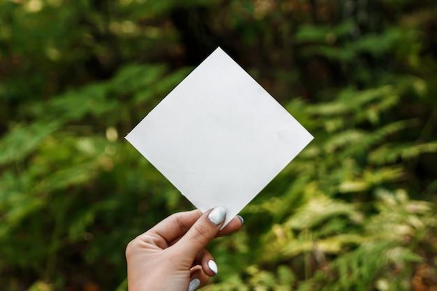 Quadro de papel losango