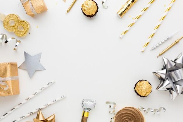 Quadro de presente e decorações
