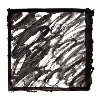 Quadro de tinta preta com traços de doodle. fundo abstrato. espaço para seu próprio texto. ilustração raster