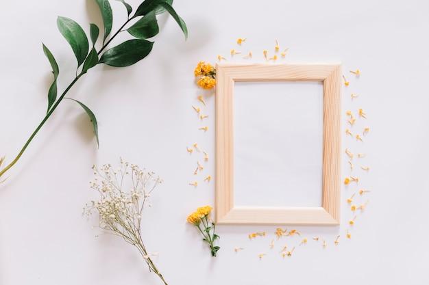 Quadro e flores