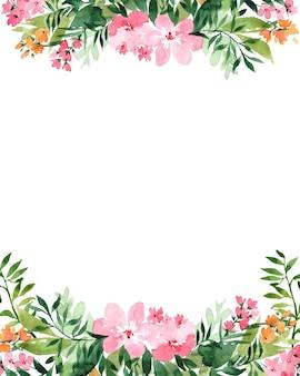 Quadro em aquarela com flores, isolado no fundo branco. perfeitamente para o dia das mães, casamento, aniversário, páscoa, dia dos namorados, cartão de natal.