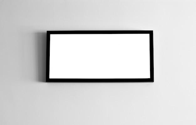 Quadro em branco preto e branco na parede