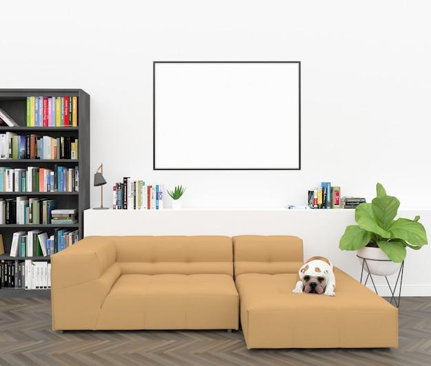 Quadro horizontal - maquete de arte