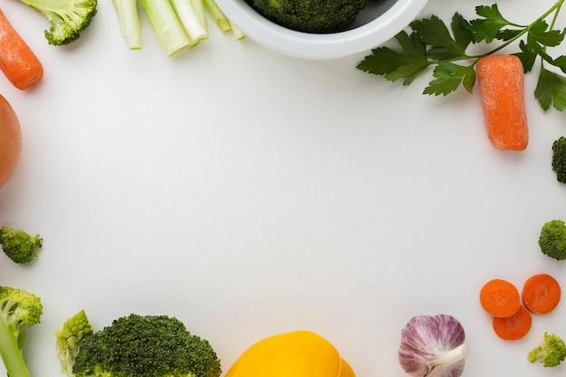 Quadro liso leigos de legumes