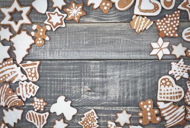 Quadro na madeira dos pães de gengibre