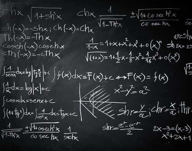 Quadro negro com fórmulas