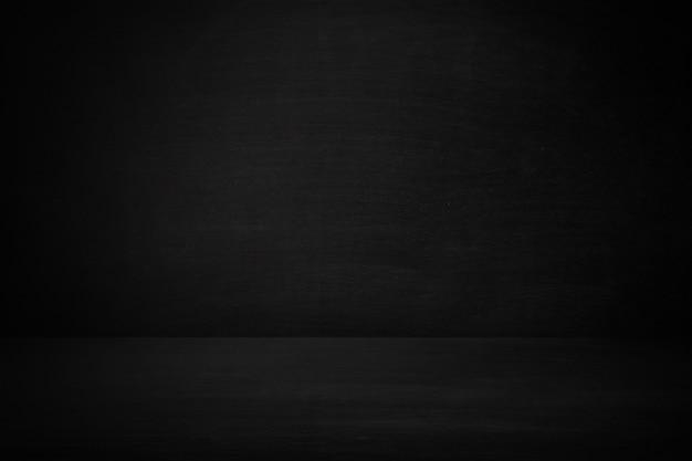 Quadro-negro e quadro de parede da sala de aula com piso em branco, plano de fundo