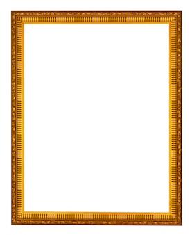 Quadro vintage de madeira vazio isolado no branco