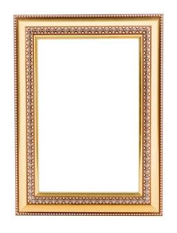 Quadro vintage de ouro. elegante vintage ouro / moldura dourada com perolização