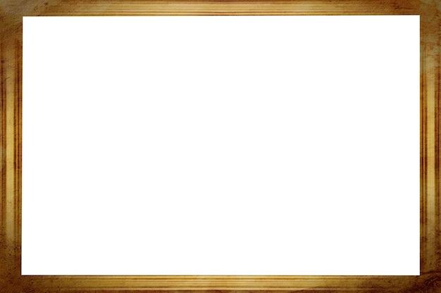 Quadro vintage marrom isolado contra um fundo branco. foto de alta qualidade