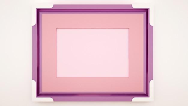 Quadro violeta rosa vazio