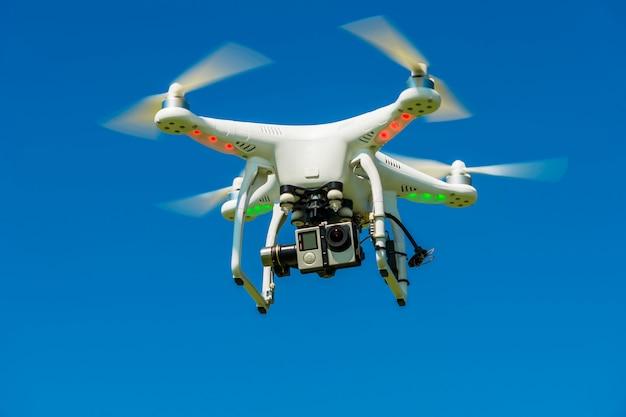 Quadrocopter com a câmera no ar