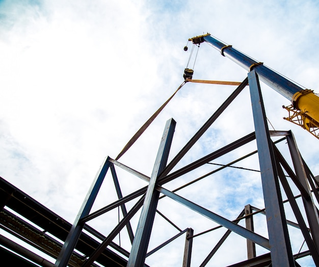 Quadros de trabalhador de construção industrial