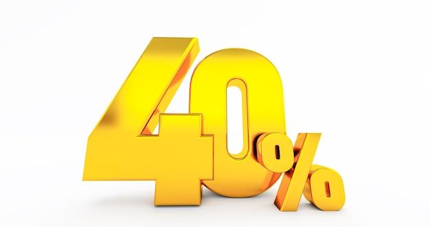 Quarenta 40 por cento