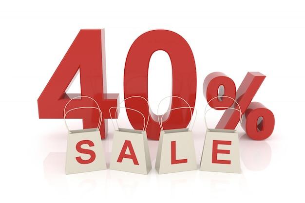 Quarenta por cento de venda