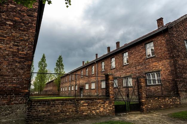 Quartel da prisão de auschwitz ii, birkenau, polônia