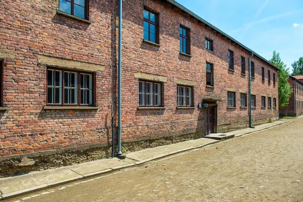 Quartel no antigo campo de concentração nazista de auschwitz i, polônia