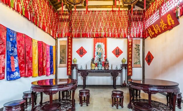 Quarto antigo do casamento em wuzhen, china