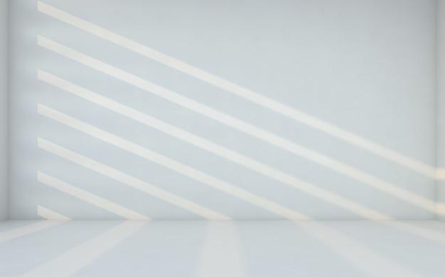 Quarto branco abstrato. quarto em branco com a parede. renderização em 3d