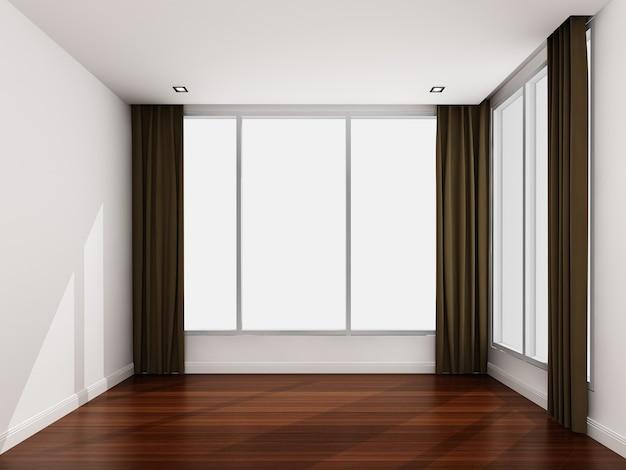 Quarto branco vazio pela manhã Foto Premium