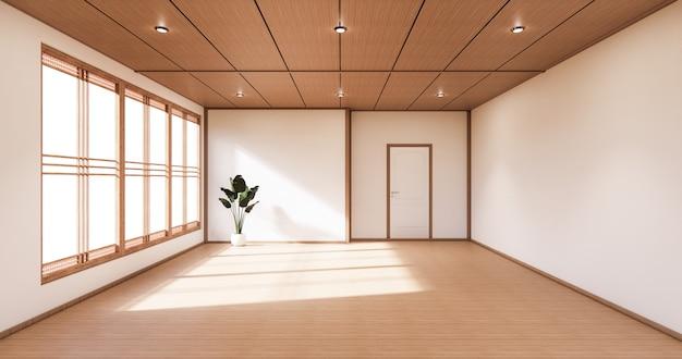 Quarto com design minimalista em estilo japonês