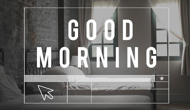 Quarto de casa, sono, paz, manhã, palavra