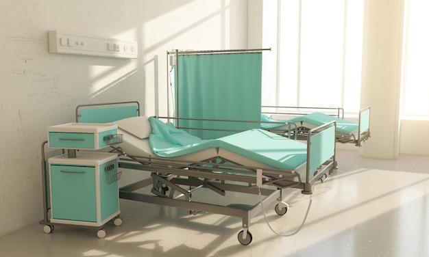 Quarto de hospital duas camas