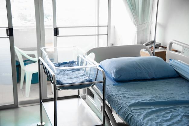 Quarto de hospital equipado moderno e confortável