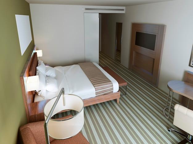 Quarto de hotel em estilo minimalista