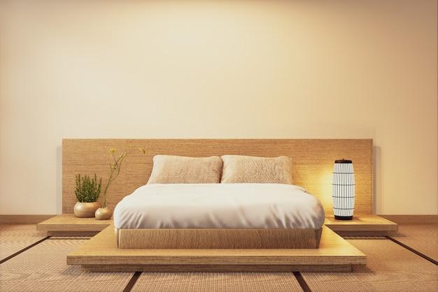 Quarto de luxo em estilo japonês moderno interior