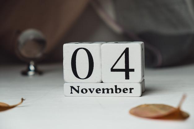 Quarto dia do calendário do mês de outono, novembro.
