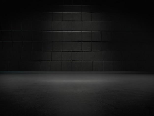 Quarto escuro com ponto de luz no chão