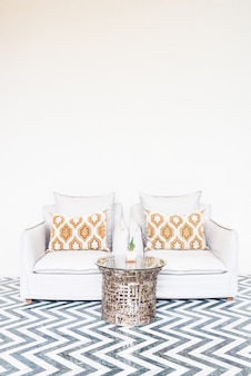 Quarto interior decoração sofá