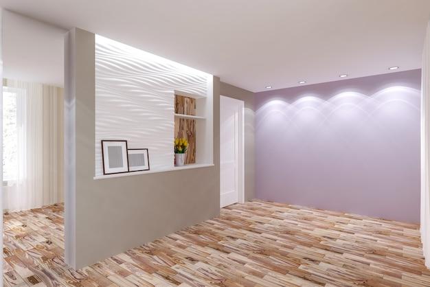 Quarto interior em estilo moderno. design de interiores