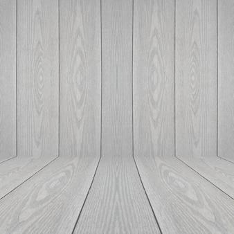 Quarto interior retro vintage com parede de madeira e piso de madeira. perspectiva de fundo de textura de madeira