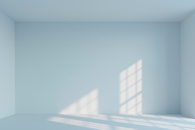 Quarto minimalista branco vazio. renderização em 3d