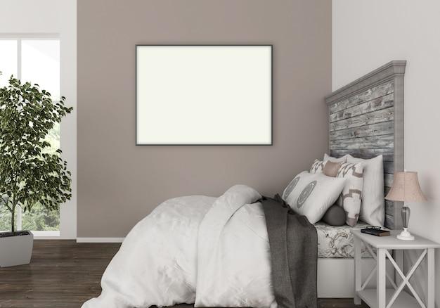 Quarto moderno com moldura horizontal