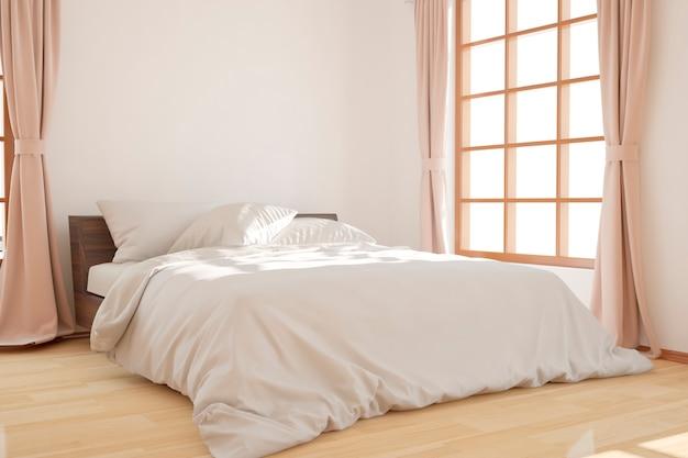 Quarto moderno em design de interiores de manhã