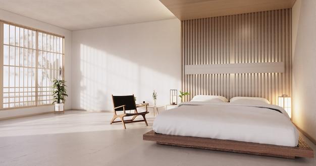 Quarto moderno - estilo japonês. renderização 3d