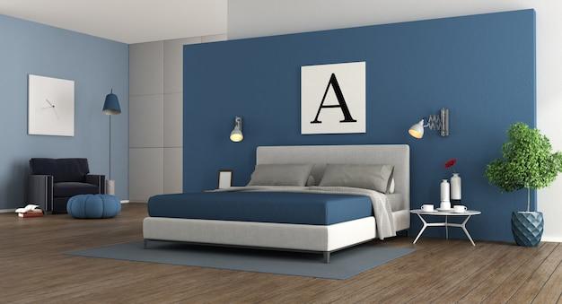 Quarto principal moderno azul