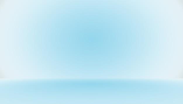 Quarto vazio abstrato azul gradiente