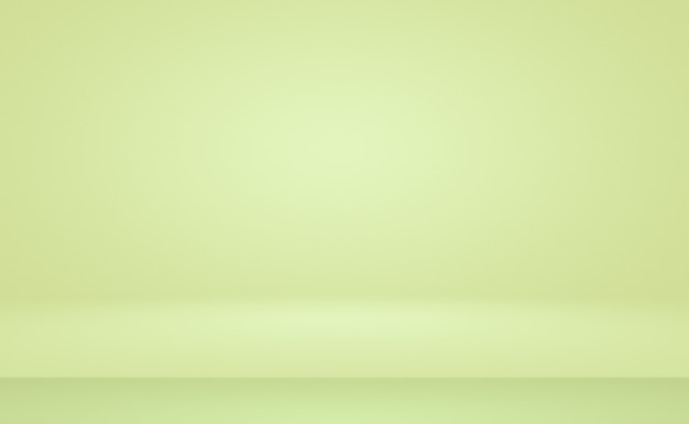 Quarto vazio de fundo abstrato gradiente verde com espaço