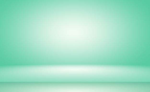Quarto vazio de fundo abstrato gradiente verde